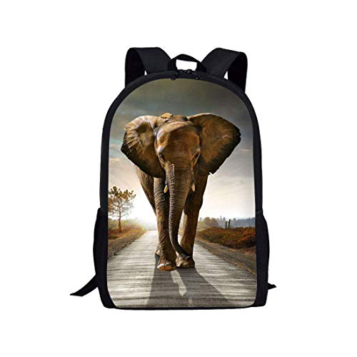 JINGS Lightweight College School Book Bag Elephant Portable Outdoor Travel Mochila for Climbing/Hiking/Camping/Running/Walking/Dancing/Training/Yoga