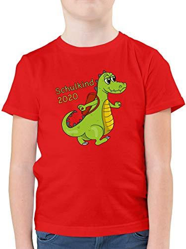 Einschulung und Schulanfang - Schulkind 2020 Krokodil - 164 (14/15 Jahre) - Rot - Schulkind t-Shirt Junge - F130K - Kinder Tshirts und T-Shirt für Jungen