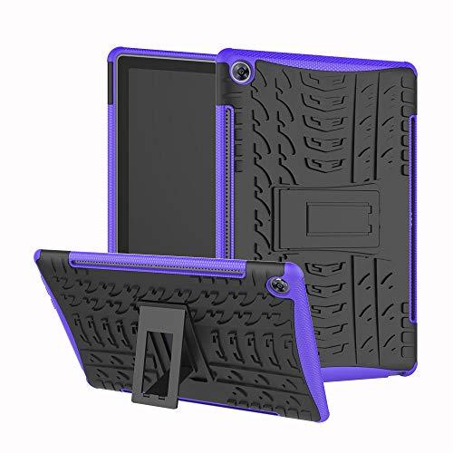 Funda para Huawei Mediapad M5 10 10.8 pro caso CMR-AL09/CMR-W09 Hybrid Armor Defender para Huawei Mediapad M5 10.8 caso-púrpura