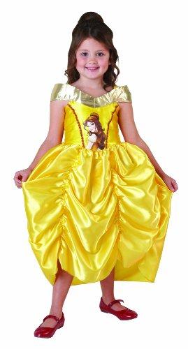 Rubie's-déguisement officiel - Disney- Déguisement Costume Classique Belle Robe en Satin à Bretelles - Taille L- I-881857L
