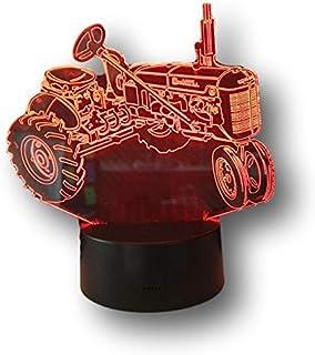 FARMALL, Lampada illusione 3D con LED - 7 colori.