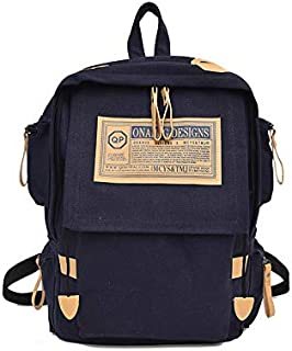 Canvas Backpack Retro Outdoor Backpack Fashion Folding Student Bag Travel Bag