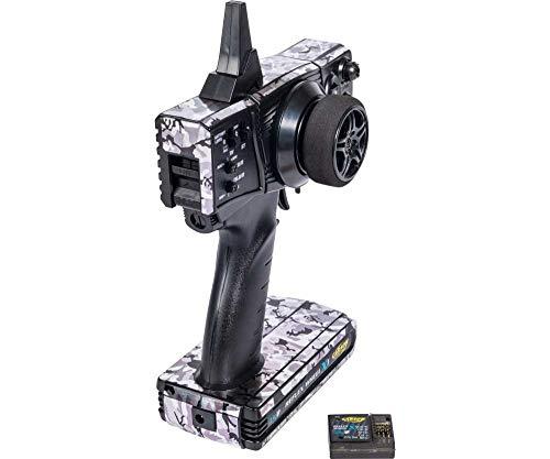 Carson 500500095 500500095-FS Reflex X1 - Maqueta de Coche (2 Canales, 2,4 G), diseño de Camuflaje, Color Negro