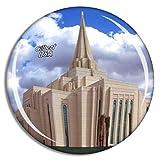 Weekino Stati Uniti d'America America Gilbert Church Calamità da frigo 3D Cristallo Bicchiere Tourist City Viaggio Souvenir Collezione Regalo Forte Frigorifero Sticker