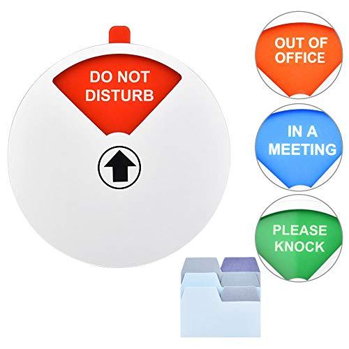 EMAGEREN Sichtschutzschild, Do Not Disturb Schild, Out of Office Schild, Please Knock Sign, In einem Meeting Schild, Büroschild, Konferenzschild mit Haftnotizen für Büros Supplies silber, 14 cm