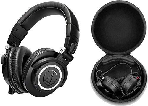audio technica ATH-M50X Auricular Profesional Estudio con Funda Eva Case 30