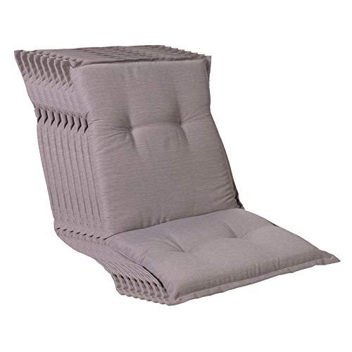 Homeoutfit24 Sun Garden - Set di 8 cuscini per sedia da giardino (103 x 52 x 8 cm), colore: Grigio platino