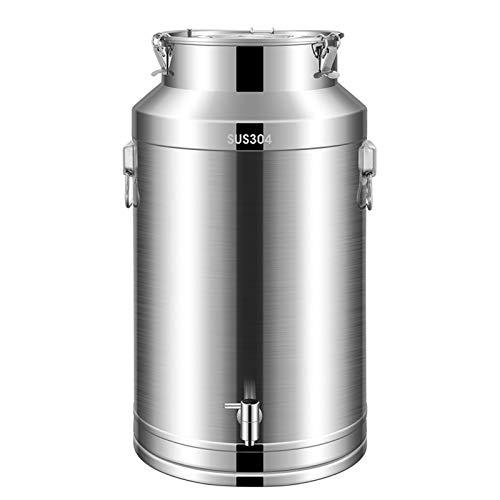 Pot Recipiente hermético de acero inoxidable 304, contenedor de almacenamiento de alimentos, té, café, azúcar, harina por Airtight (tamaño : 48 L)