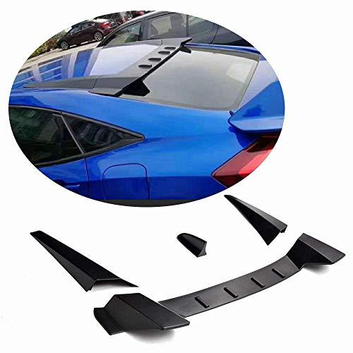XTT Heckspoiler passend für Honda Civic Limousine 2017 2018 Unlackierter ABS Dachfenster Spoilerflügel mit Antenne 4St. / Set