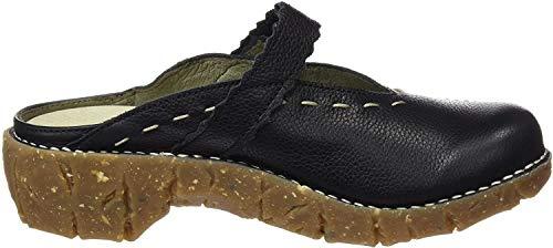 El Naturalista S.A Ng96 Soft Grain Yggdrasil, Damen Clogs, Schwarz (Black), 40 EU
