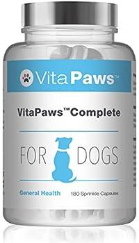 VitaPaws™ Complete Multivitamines pour Chien, 180 Gélules - Support Polyvalent pour la Santé des Chiens avec Vitamines, Minéraux et Acides Aminés, Fabriqué au Royaume-Uni
