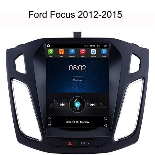 LFEWOZ Auto GPS Auto Playe Navigation - Für Ford Focus 2012-2015, Navi Navigationsgerät Mit Bluetooth Radio Stereo Musik 4G WiFi Double Din Mit 9 Zoll Bildschirm