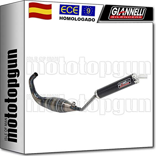 GIANNELLI SILENCIOSO COMPLETO HOM STREET 2T CARBON GPR 125 NUDE 2006 06 53610HF + 53612HF