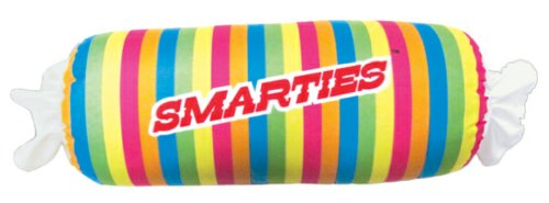 iscream Rainbow-Licious! Strawberry Scented Smarties Roll 24.75' Microbead Pillow