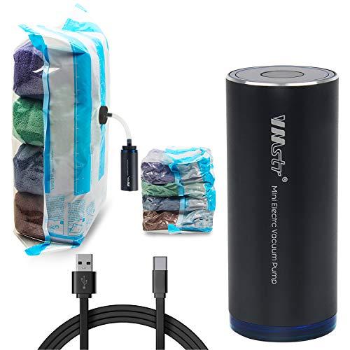 (USB Bomba)con bolsas de vacío, bolsa de almacenamiento de compresión de doble grosor, hermética al aire Ahorre espacio para maleta de viaje de tamaño pequeño