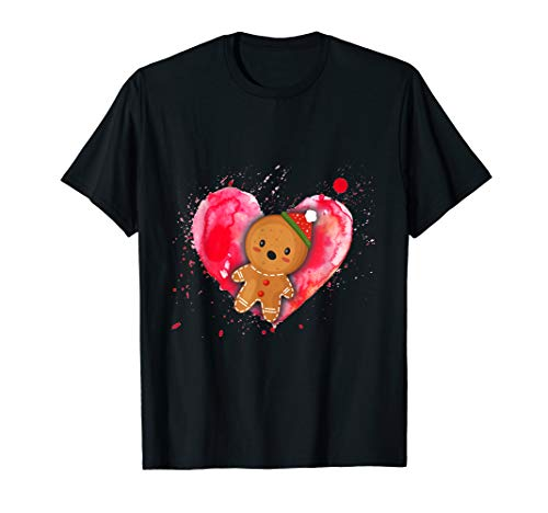Gingerbread Valentines Day Gift For Boys Girls Him Her T-Shirt