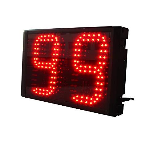 WyaengHai Countdown-Uhr Stoppuhr Countdown Intervall-Timer Mit Fernbedienung Großen Gymnastiktraining Geeignet für Fitness-Studio Fitness (Farbe : Schwarz, Größe : 6-inch)