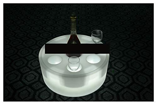 YIBANG-DIANZI Cubo de Hielo Placa de Bandeja de Vino Luminosa LED, 6 Orificios Impermeable Impermeable Iluminado LED Flotante de champán Flotante cubeta de Hielo Recargable para Fiestas Familiares