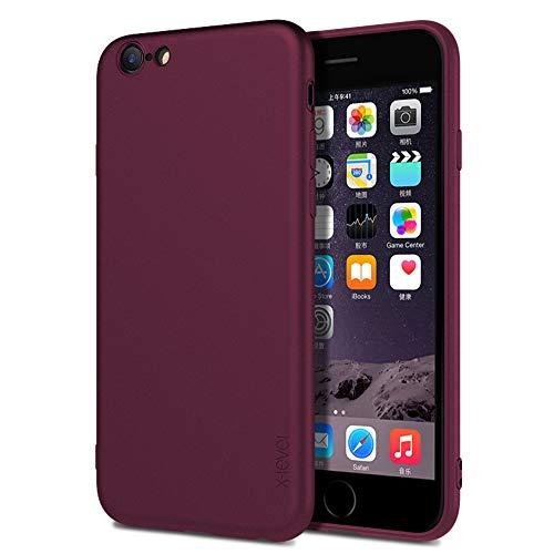 X-level Cover per iPhone 6,iPhone 6S,Custodia Protezione in Morbida Silicone TPU,Ultra Sottile e Anti-Graffio, Cover Ultra Slim per iPhone 6/6S Anti Scivolo(4.7 Pollici)-Vino Rosso