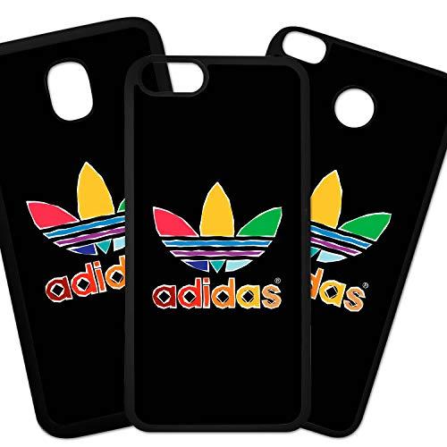 Tuscaprichosonline Fundas De Moviles Carcasas De Moviles Funda Carcasa Compatible con Marca Deporte Adidas Logo Hojas de Colores
