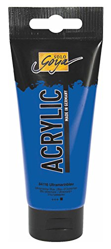 Kreul 84116 - Solo Goya Acrylic, 100 ml Tube in ultramarinblau, cremige vielseitig einsetzbare Acrylfarbe in Studienqualität, auf Wasserbasis, schnell und matt trocknend, gut deckend, wasserfest