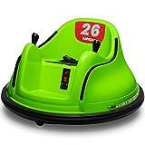 Kidzone DIY Race # 00-99 6V Kids Toy Electric Ride no pára-choque do veículo com controle remoto 360 Spin Certificado ASTM, verde