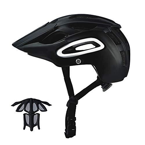 GONGMICF Casco de Bicicleta de montaña- Casco Adulto IN-Mold con Visera extraíble Ajustable y Ligero para la protección de Seguridad del Ciclo Carreras Unisex de una Pieza