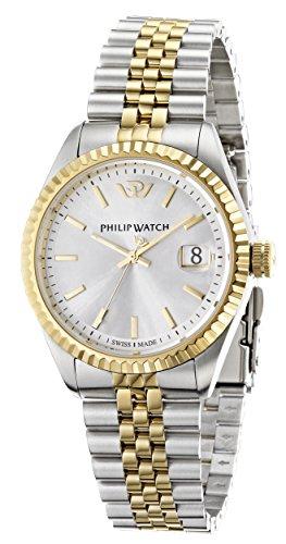 Philip Watch Herren-Armbanduhr CARIBE Analog Quarz Edelstahl R8253107011