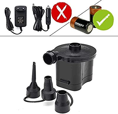 3T6B Battery Powered Air Pump Quick Inflator & Deflator for Air Beds Toys Lilos Pools (4 D Battery?