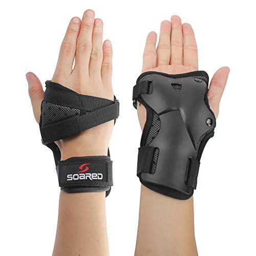 LALATECH Skating Gloves, Protective Gear Wrist Brace Wrist Guards for Skating Snowboard Protective Gear, Kids Skateboard Motocross Multi Sport Protection (M)