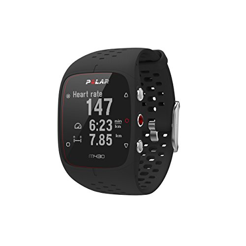 Polar M430 Montre GPS de Course, Mixte Adulte, M430 GPS Running Watch, Noir, Medium/Large