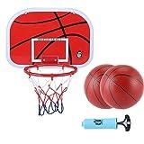 MHCYKJ Mini Canasta Baloncesto Infantil Aro De Interior con Tablero Montado En La Pared para Juego Basquetbol Bola Y Bomba Canastas (Size : S)