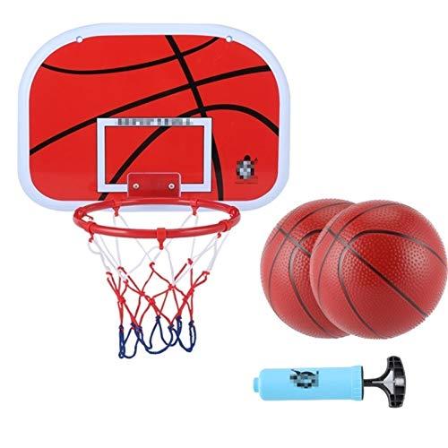 MHCYKJ Mini Canasta Baloncesto Infantil Aro De Interior con Tablero Montado En La Pared para Juego Basquetbol Bola Y Bomba Canastas (Size : Small)