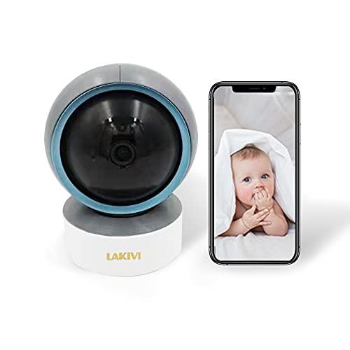 Cámara de Seguridad inalámbrica, cámara IP 1080P HD, cámara Interior de hogar WiFi para bebé/Mascota/niñera, detección de Movimiento, visión Nocturna con Audio de 2 vías, Funciona con Alexa