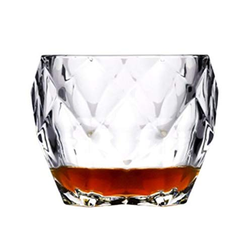 Yousiju Vasos de Whisky Whisky Prisma Cristal Vaso Antiguo Vaso de Vodka Copa de Vino Chivas (Color : 1 Pcs)