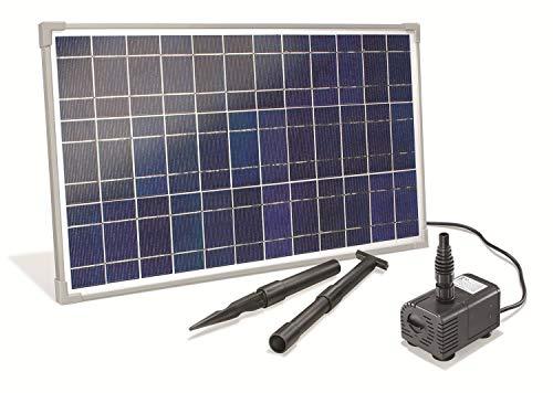 Solar Bachlaufset 25 Watt Solarmodul 1600 l/h Förderleistung 2,3 m Förderhöhe Komplettset Gartenteich, 101018