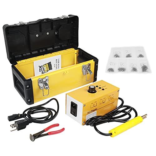 PLAYOCCAR Kit de Soldador de Plastico Coche, 220V Grapadora Caliente Plastico Kits...