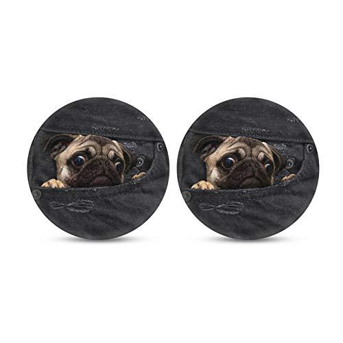 Belidome Perro de bolsillo diseño de perro para coche mujeres titular de taza para bebidas Bar Proetcor de Water Dirty
