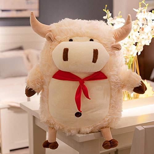 CZMCQM - Cuscino in peluche a forma di mucca, per divano, per bambini, regalo di compleanno, 30/45/60 cm, colore: bianco
