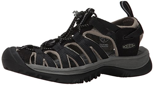 KEEN Women's Whisper Sandal,Black/Gargoyle,5 M US