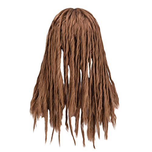 jieGorge Wigs, Brazil Women Twist Braids Wigs Extensions Synthetic Hair Natural Marley Braids, Health and Beauty (Brown)
