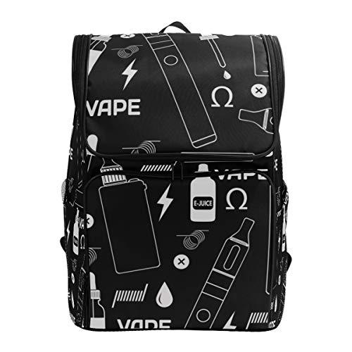 LISNIANY Rucksack,Vape Shop Ecigarette Store Nahtloses Muster,Computertasche,Schultasche,große Kapazität