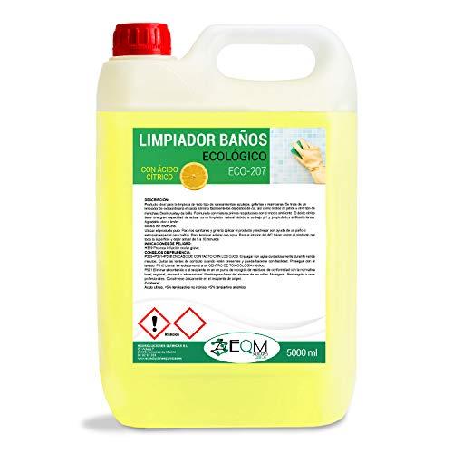 Ecosoluciones Químicas ECO-207 | Limpia Baños Ecológico | CON ÁCIDO CÍTRICO | 5 litros