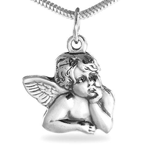 Kettenanhänger Raphael Engel Schutzengel aus 925 Sterling Silber antik Stil #136