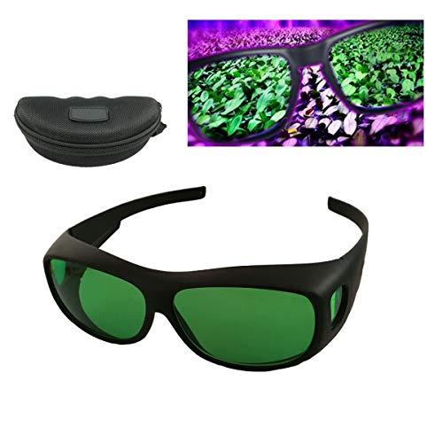 Tokenhigh Gafas Protectoras de Crecer Luces Indoor Grow Glass Glasses contra Rayos Rojo,UV, IR LED Gafas de Seguridad In Grow Room & Greenhouse