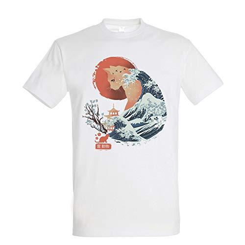 Camiseta Spirit Animal Cat - Gato - Japon - 100{baa812cd22509f2866506063d83ddcae5e82f225021a2957b7ea364a7d791cb6} Algodón - Serigrafía