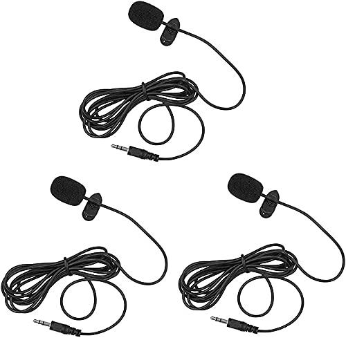 Lavalier Lapel Microphone, Portable Collar Clip...
