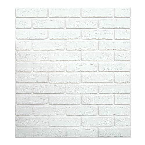 Papel pintado 3D con diseño de ladrillos para pared de pared de...