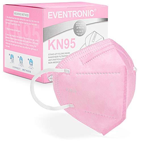 [30 Stück] FFP2 Maske CE 2797 Zertifiziert,Eventronic 5-Lagen hygienische,Atemschutz hohe Filtration, Partikelfiltermaske