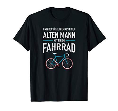 Unterschätze Niemals Einen Alten Mann Mit Einem Fahrrad T-Shirt